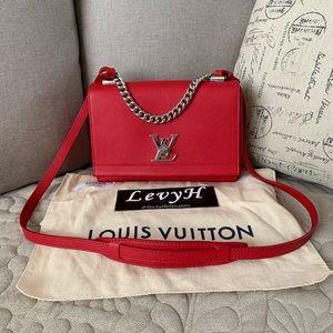 Authentic Louis Vuitton Lockme ll BB Rubis